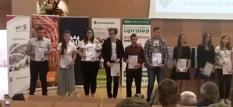 Sukces na Olimpiadzie Wiedzy i Umiejętności Rolniczych – wygrany indeks na uczelnię !