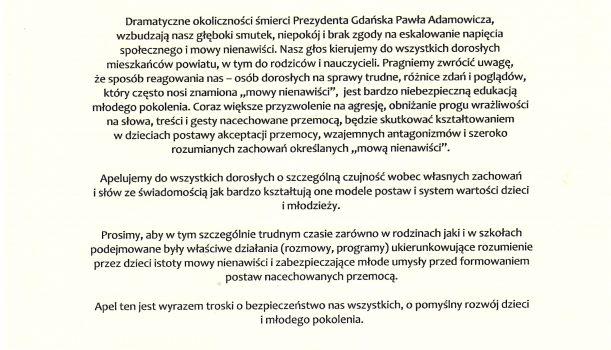 Apel Rady Powiatu Piaseczyńskiego