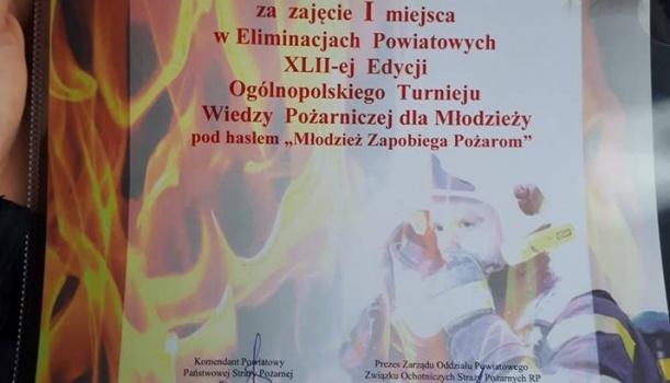 Pierwsze miejsce w konkursie pożarniczym